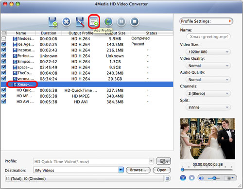 HD video converting Mac software