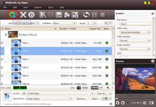 Convert Blu-ray to DivX format