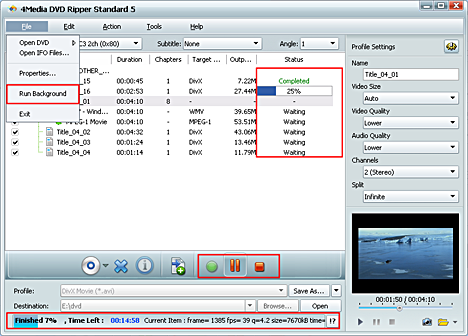 DVD converting/converting software