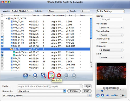 Convert DVD to Apple TV Video