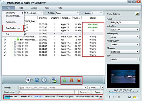 4Media DVD to Apple TV Converter