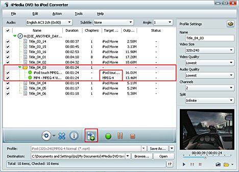 How to convert DVD to iPod MP4