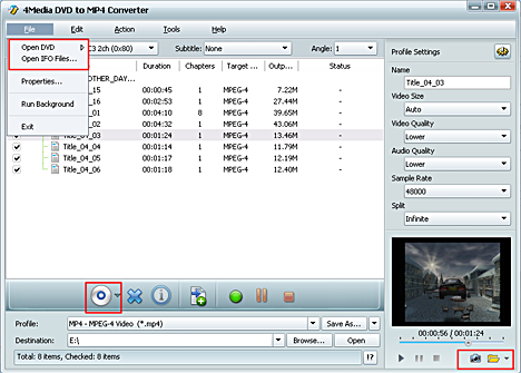 Convert DVD to MPEG-4, Rip DVD to MPEG-4