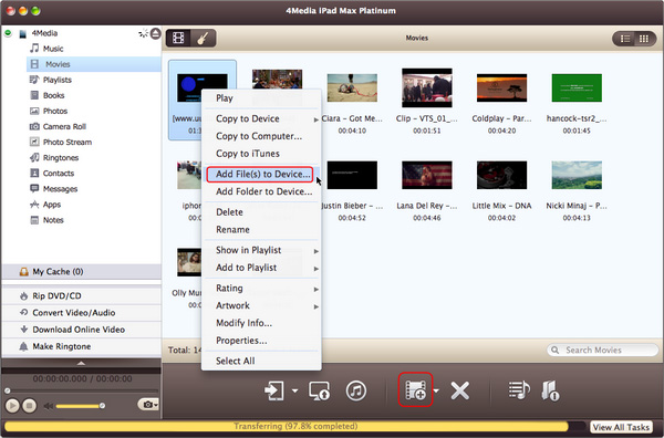 Copy files from Mac to your iPad/iPod/iPhone