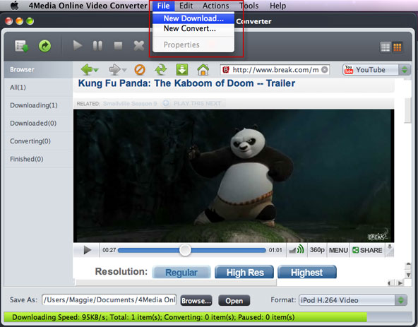 Converting Online videos to Mac