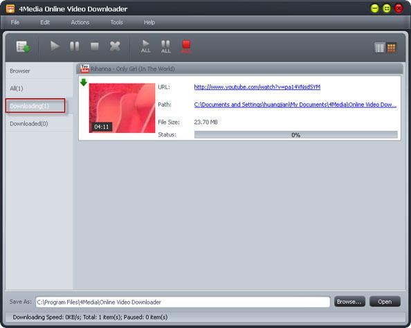 online video downloading