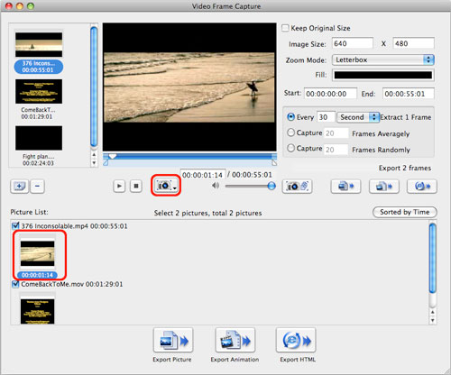 How to capture frame from a video on a Mac computer