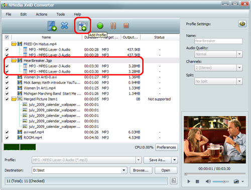convert video files to XviD format