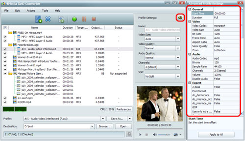 Convert MP4 to XviD