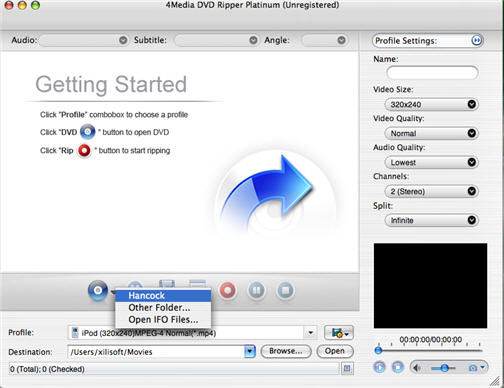 Convert DVD to DivX on Mac