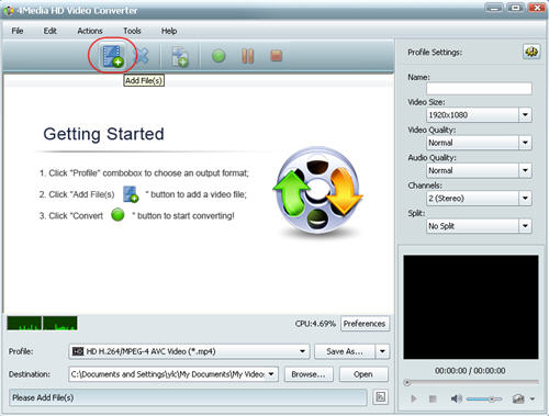 How to convert M2TS to WMV, M2TS to WMV HD Converter