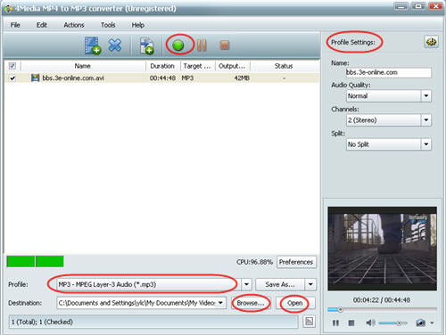 How to convert AVI to MP3