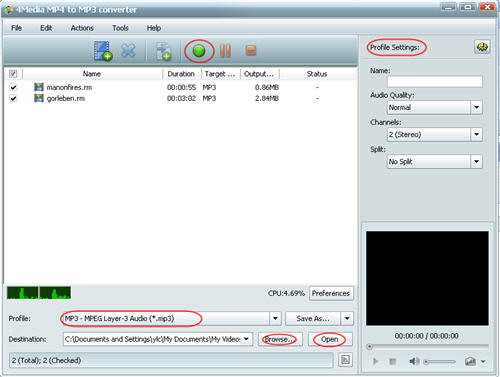 How to convert RM to MP3